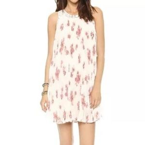 Free People Pleated Floral Dress NWOT